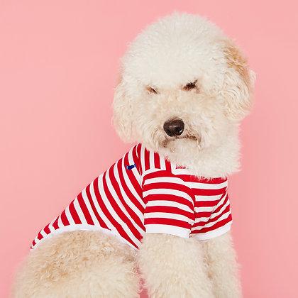 Striped T-shirt David red