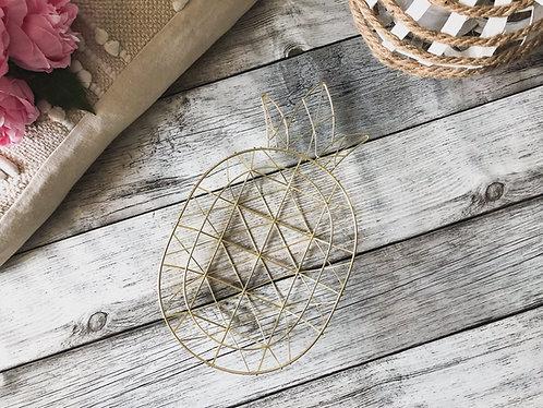 Coupelle forme ananas en métal doré