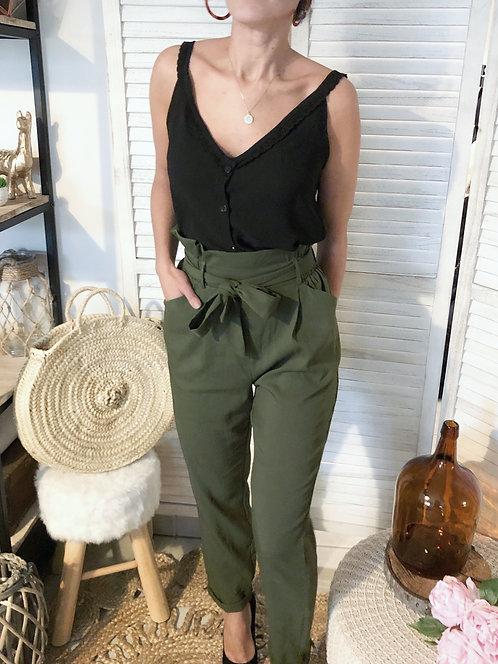Pantalon taille haute fluide - ANDREA