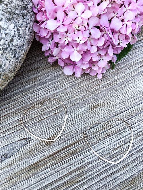 Boucles d'oreilles coeur dorées - AURELIE