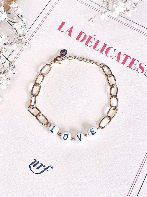 Bracelet chaine à maillons Love - DEAN