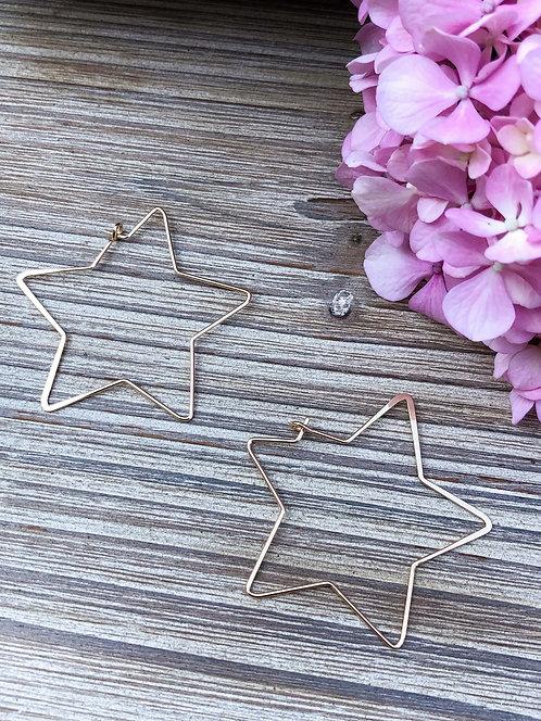 Boucles d'oreilles étoile dorées - TIPHAINE