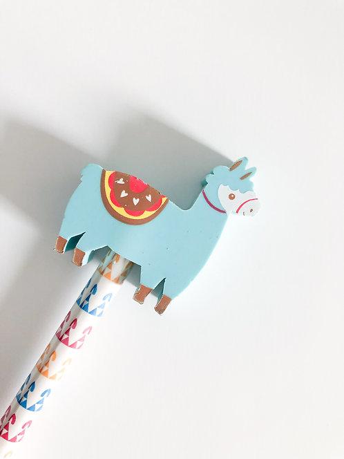Crayon à papier gomme Lama - Verte