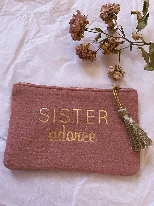 Pochette en gaze de coton - Sister adorée