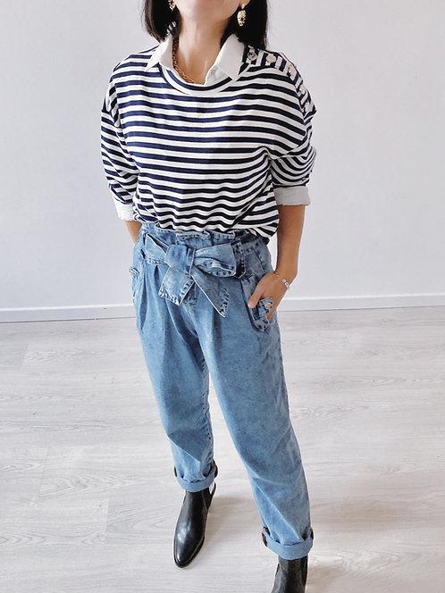 Pantalon denim bleu - BILLIE