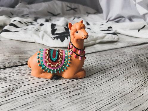 Figurine Lama marron