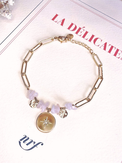 Bracelet avec pierres et médaille étoile - SYRIAN