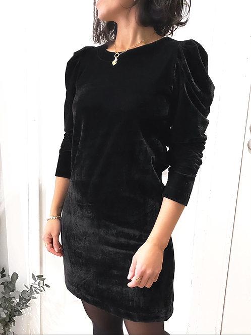 Robe noire en velours - MILANE 🇫🇷