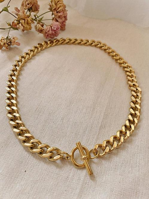 Collier chaine doré
