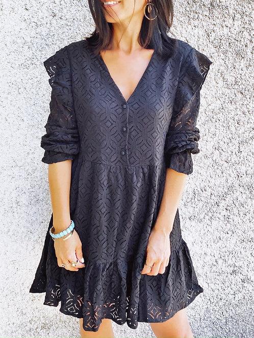 Robe en coton et dentelle - ARWEN
