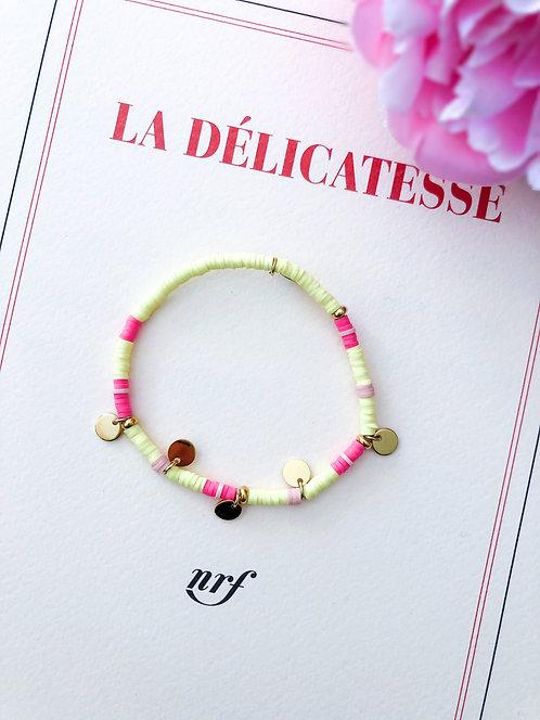 Bracelet coloré jaune à pampilles dorées - AMILCAR