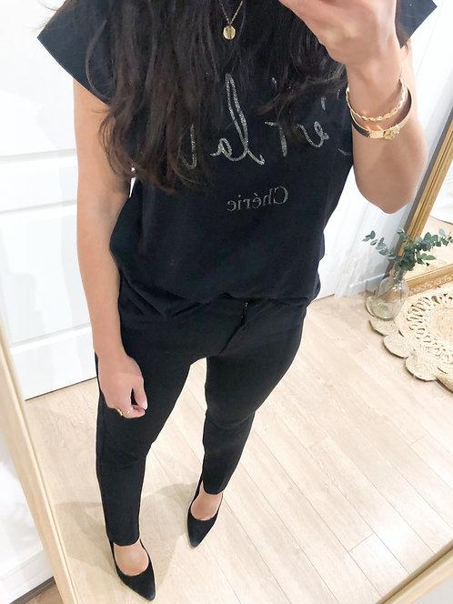 Pantalon noir fabriqué en France - BRUCE