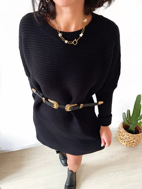 Robe pull noire - LOUBNA