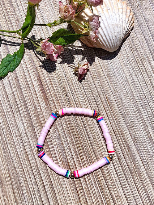 Bracelet surfeur rose - ARISTIDE