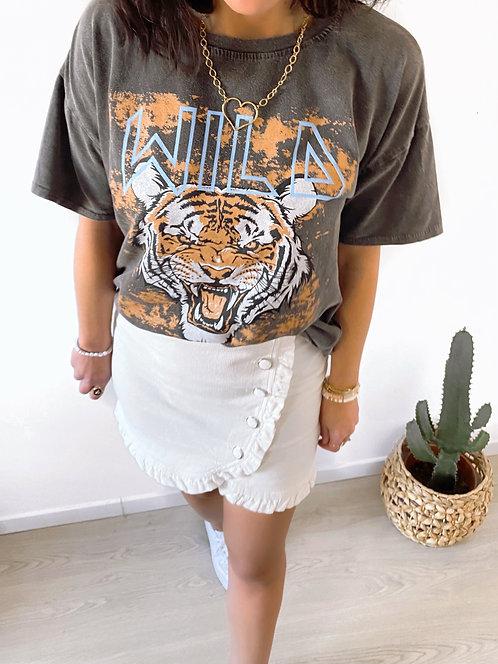T- shirt tigre noir - WILD