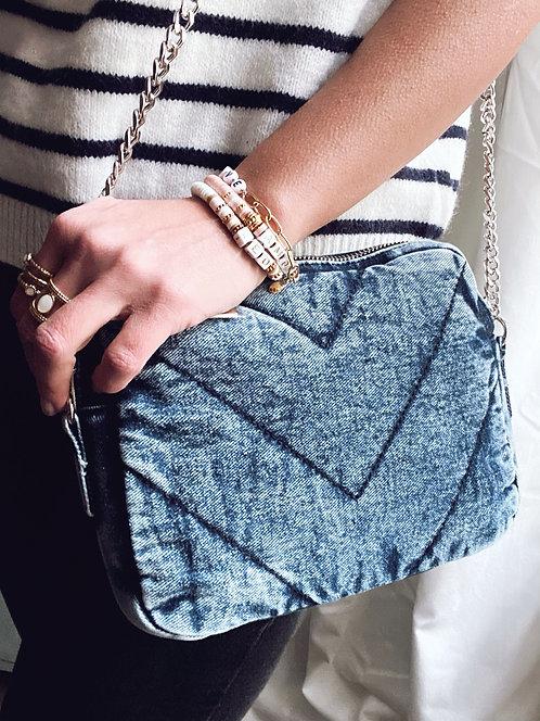 Sac en coton délavé bleu ciel - ILIAN