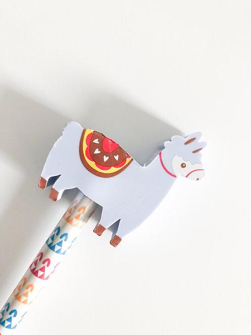 Crayon à papier gomme Lama - Grise