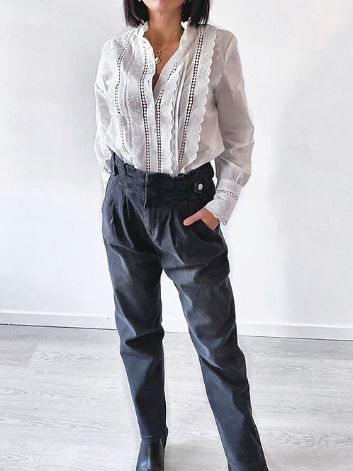 Pantalon denim taille haute - MANSON