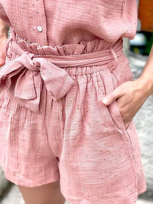 Short rose en gaze de coton - ARMANDO