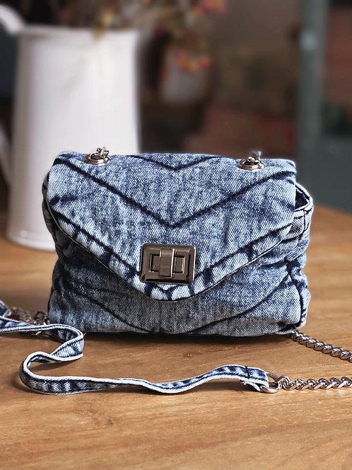 Mini sac en coton délavé bleu ciel - IMAN