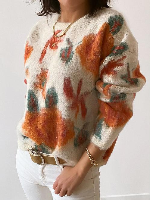 Pull en laine à fleurs - ALESSANDRO