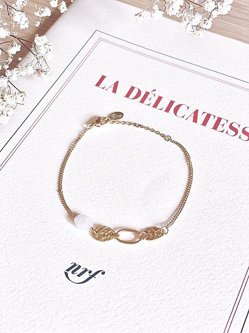 Bracelet dorée avec pierre - DANI
