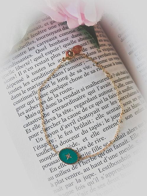 Bracelet à médaille Etoile du Nord - CECILE