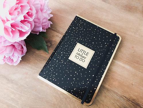 Carnet de notes A5 noir - Little things to do