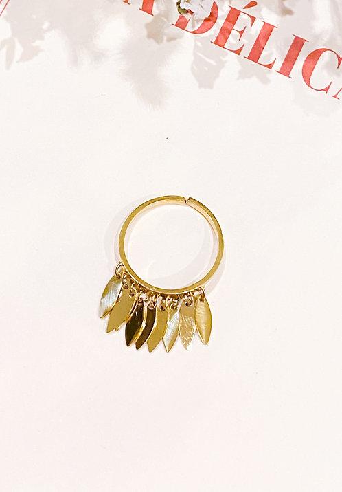 Bague frange dorée  - CLOTILDE