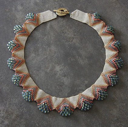 FELLINI - Corail & turquoise