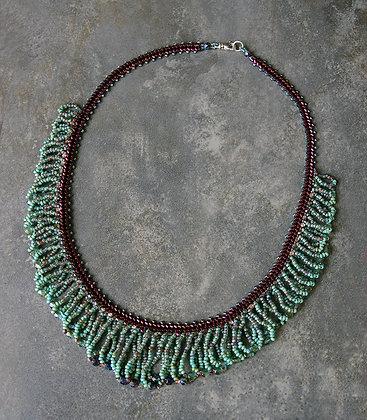 FRANGÉ Turquoise-bourgogne