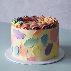 Painted pastel buttercream