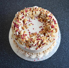 Spiced banana, raspberry and peanut butter