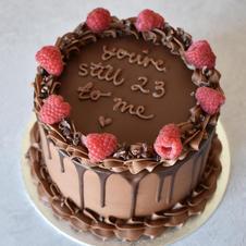 Chocolate and raspberry