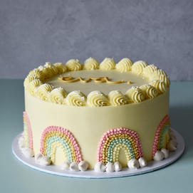 Piped buttercream decorations