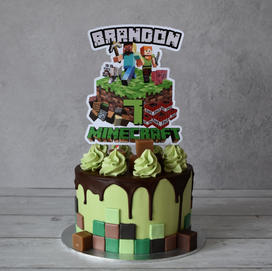 Card cake topper