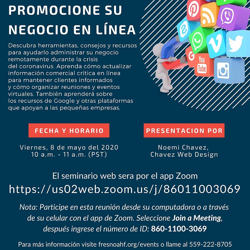 Seminario Web - Promocione su negocio en linea