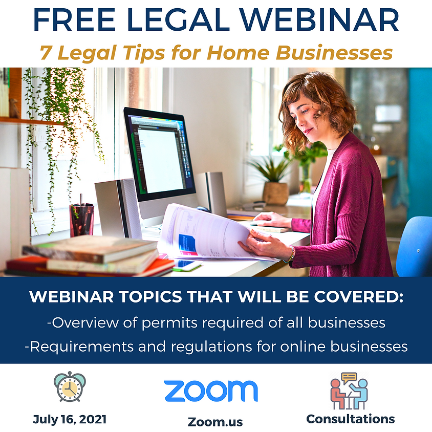 7 Legal Tips for Home Businesses
