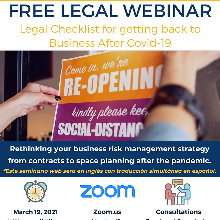 Legal Checklist for getting back to Business After Covid-19
