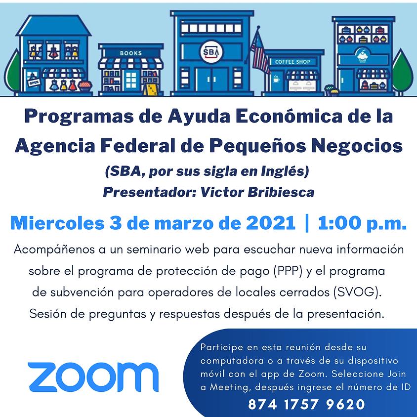 Programas de Ayuda Económica de la Agencia Federal de Pequeños Negocios