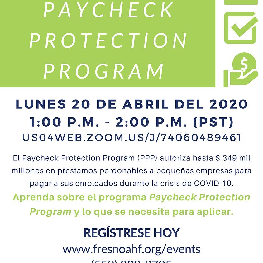 Seminario web sobre el programa Paycheck Protection Program