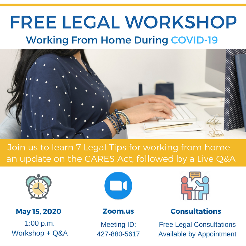 Free Legal Workshop - Working From Home During COVID-19