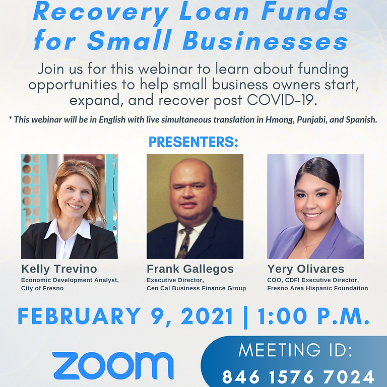 Recovery Loan Funds for Small Businesses