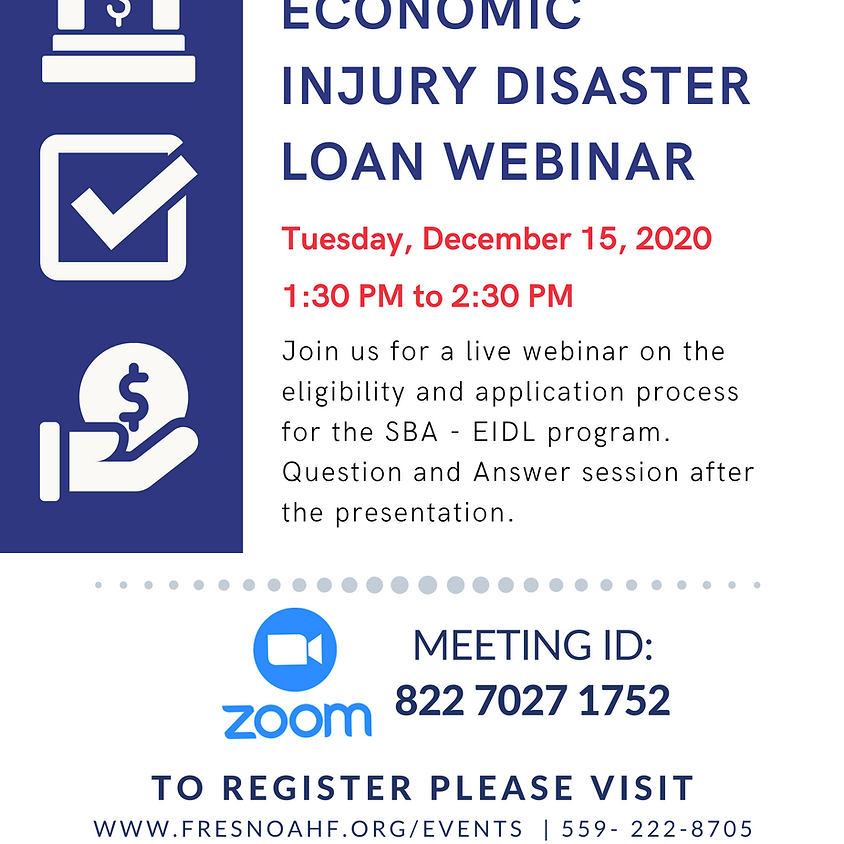 SBA - Economic Injury Disaster Loan Webinar