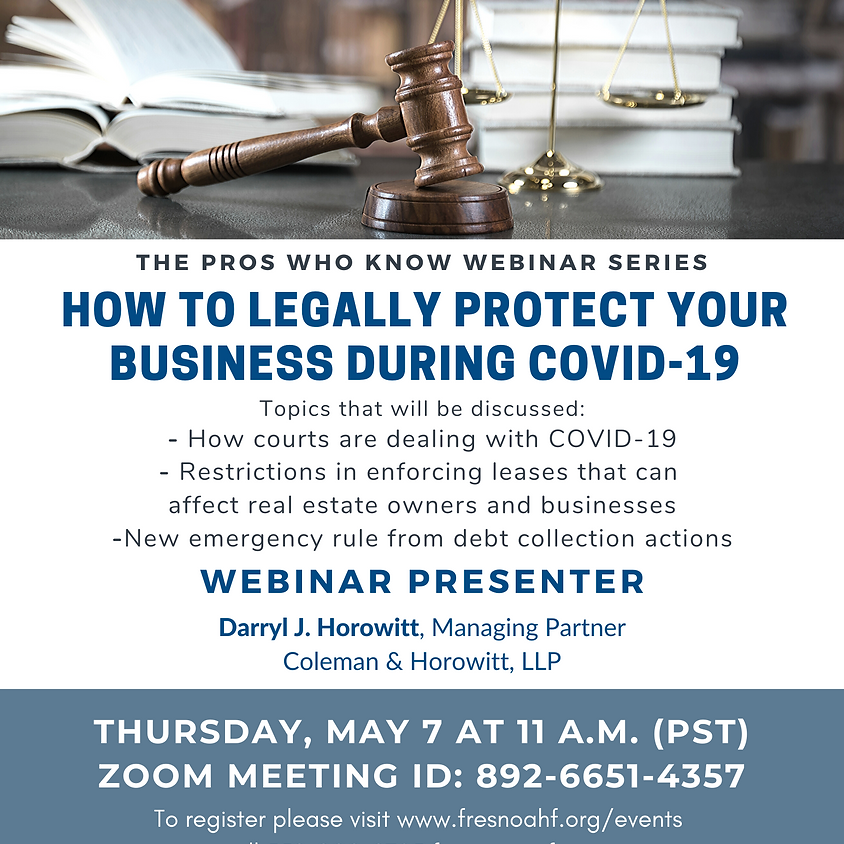 How to Legally Protect Your Business During COVID-19 Webinar