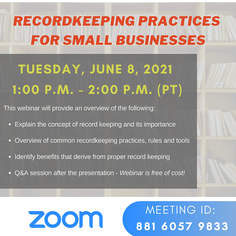 Record Keeping Practices  for Small Businesses