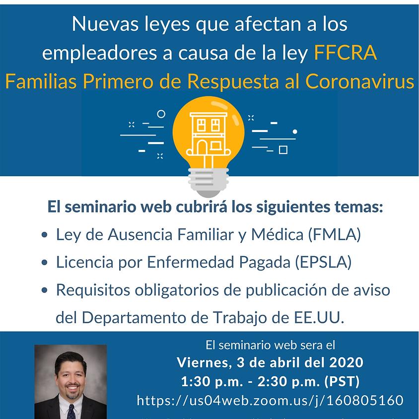 Seminario Web sobre nuevas leyes que afectan a los empleadores por el COVID-19
