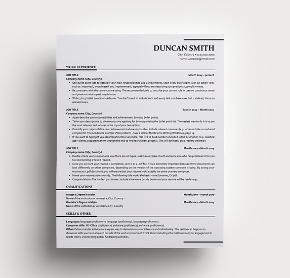 Resume Duncan