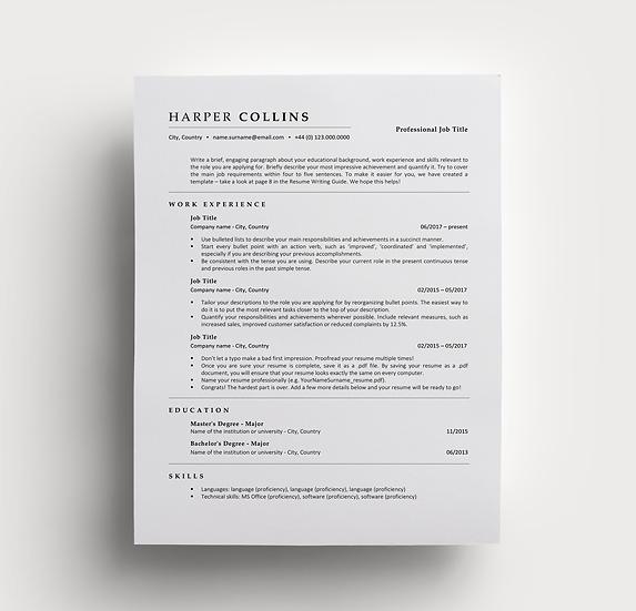Resume Harper