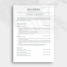 Minimalist and Professional ATS Resume Template